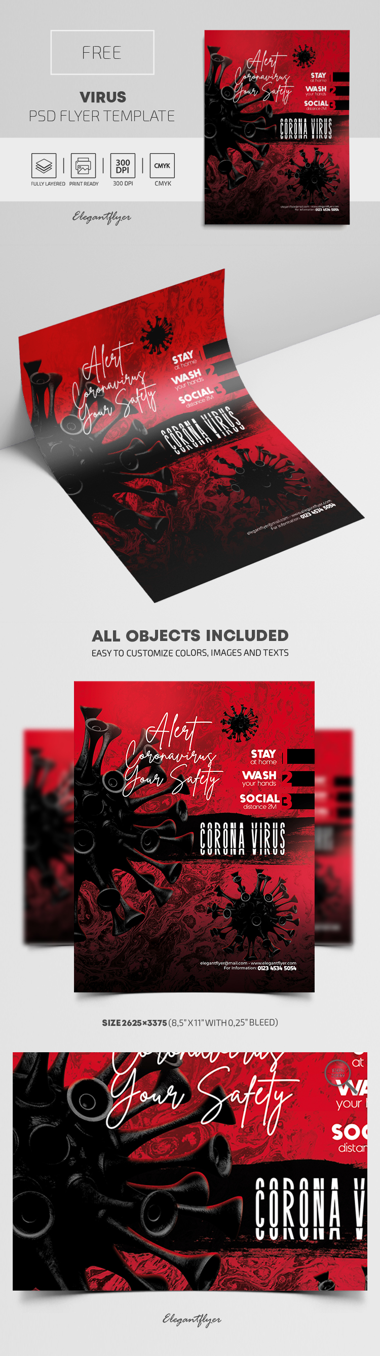 Virus – Free PSD Flyer Template