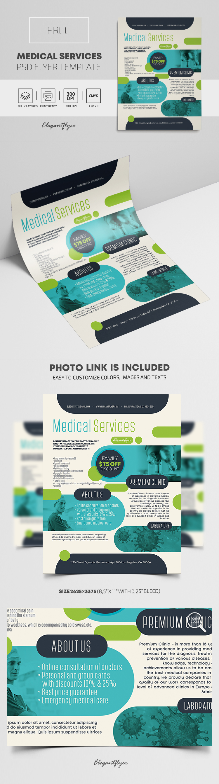 Medical Services – Free PSD Flyer