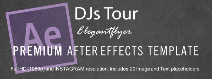 DJ Tour After Effects Template