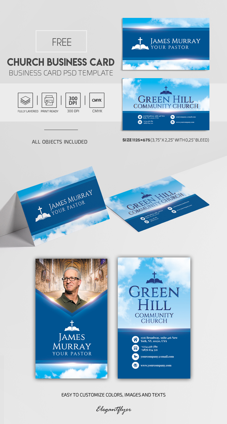 Church Business Card – Free PSD Business Card Template