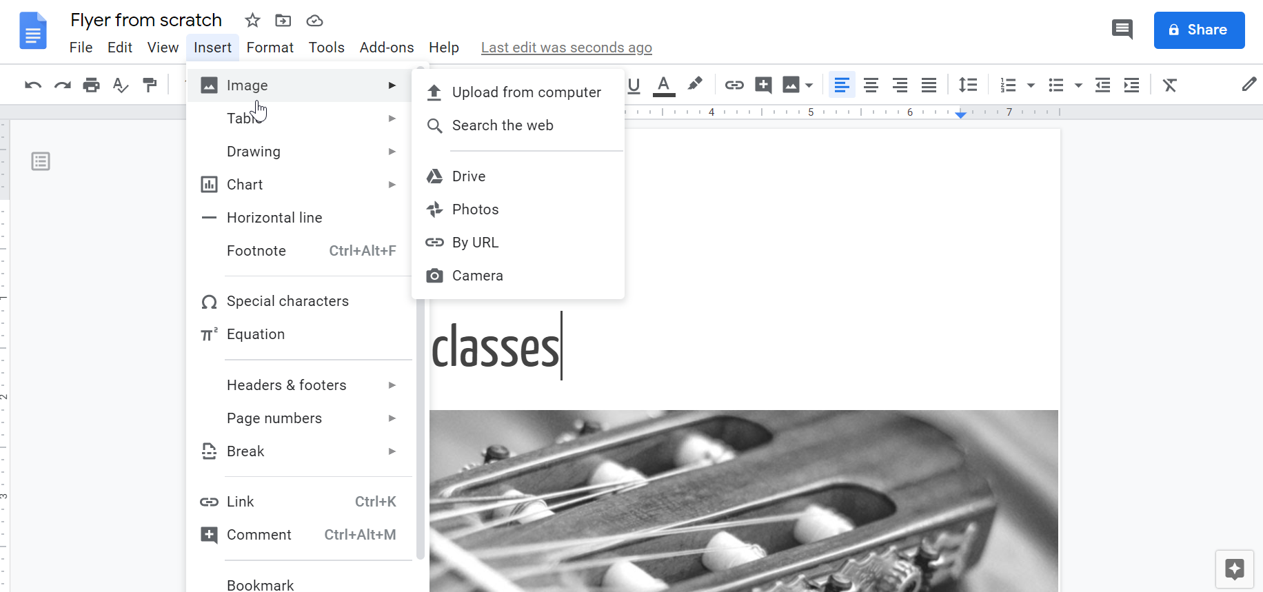 How to Make a Flyer on Google Docs