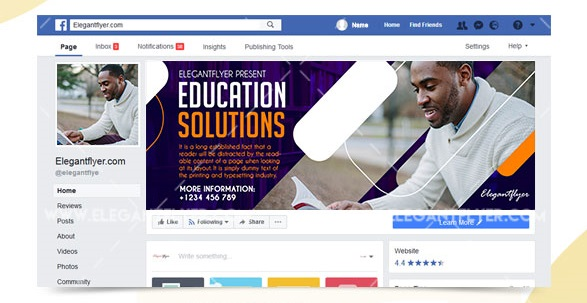 30+ Free Best Education Facebook Templates in PSD + Premium Version!