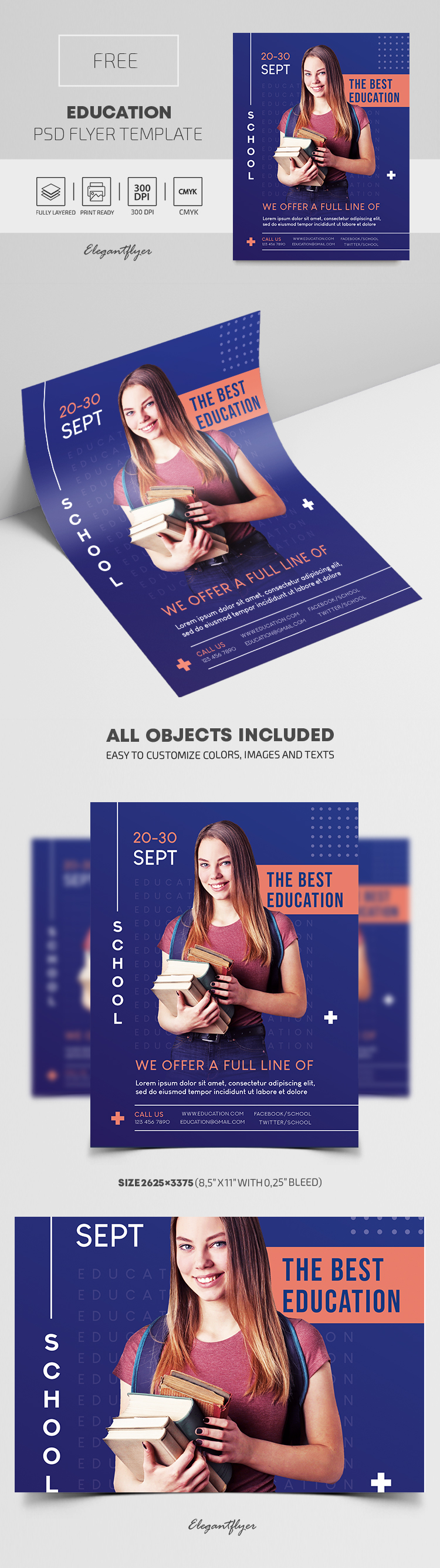Education – Free PSD Flyer Template