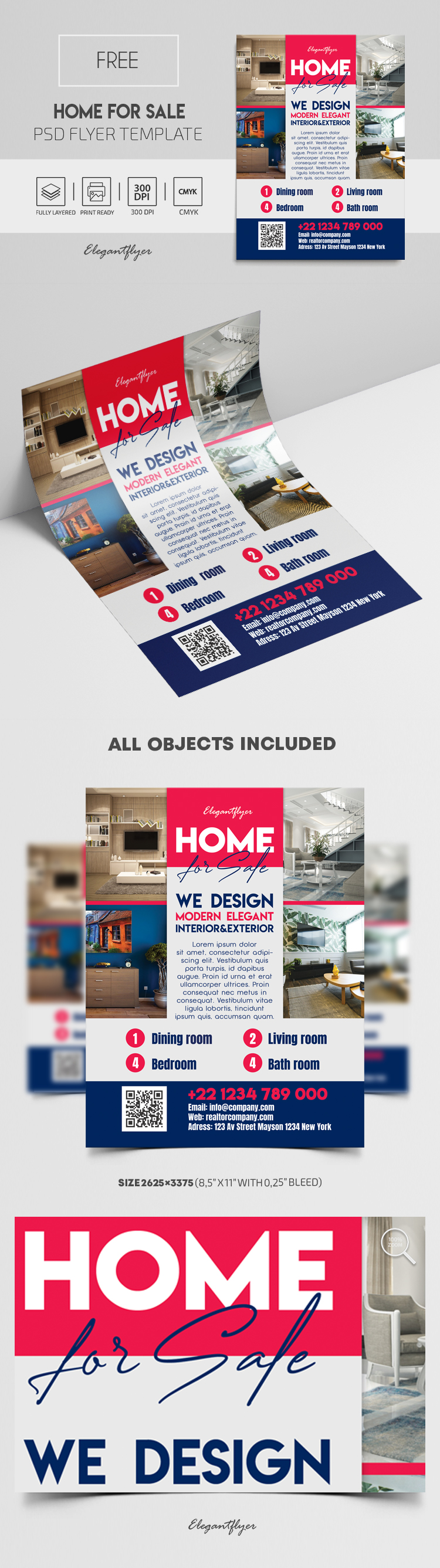 Home For Sale – Free PSD Flyer Template