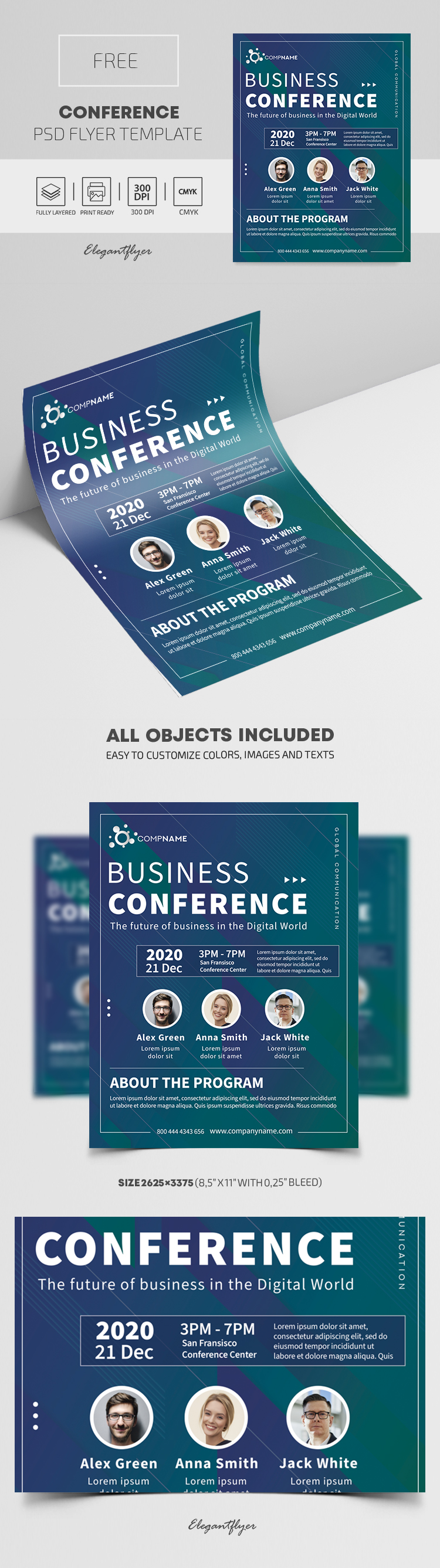 Conference – Free PSD Flyer Template