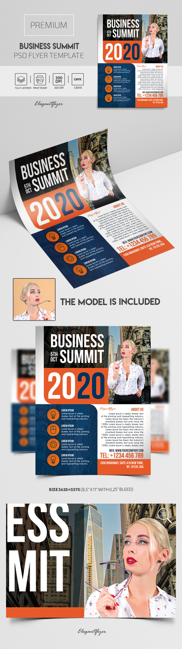 Business Summit – Premium PSD Flyer Template