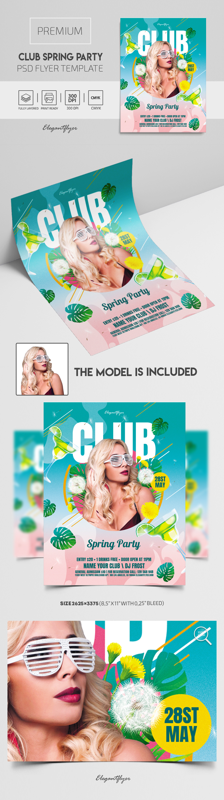 Club Spring Party – Flyer PSD Template