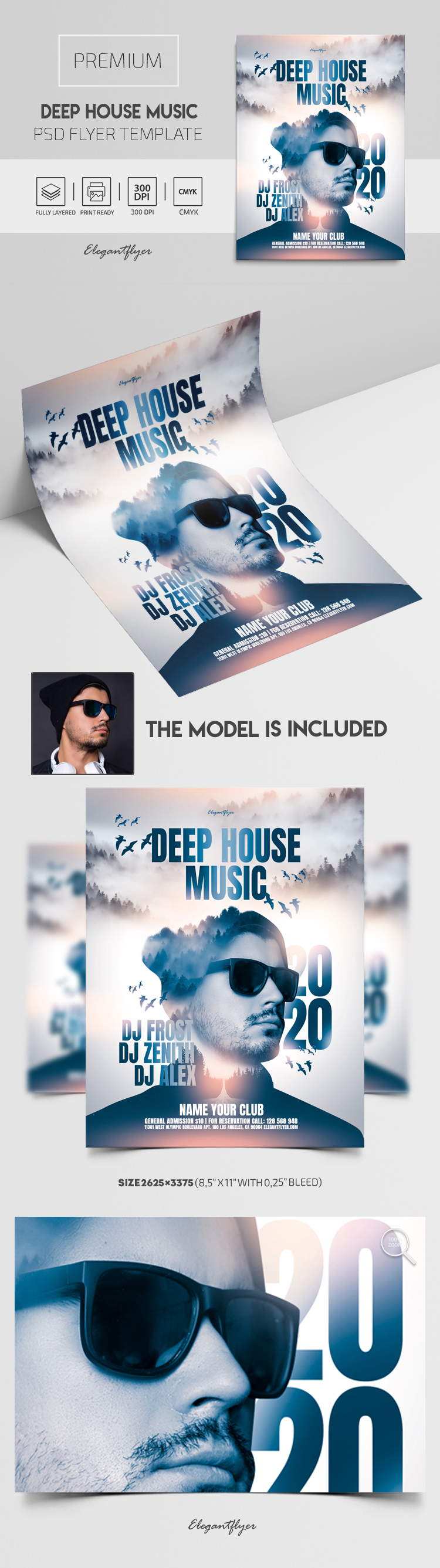 Deep House Music – Flyer PSD Template