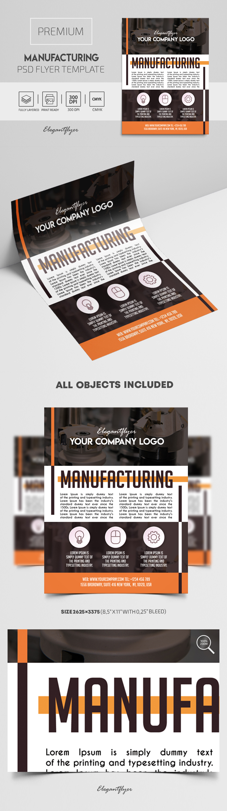 Manufacturing – Premium PSD Flyer Template