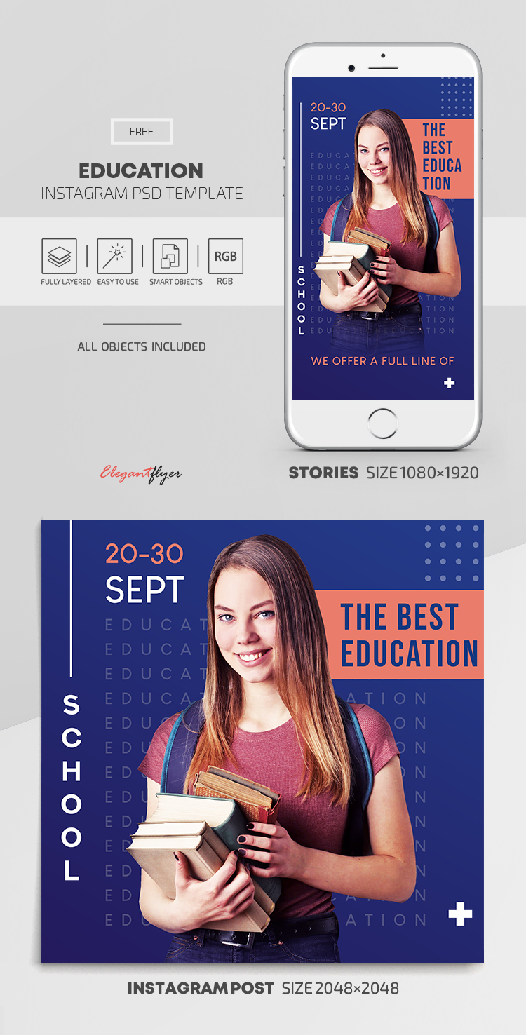 Education – Free Instagram Stories Template in PSD + Post Templates