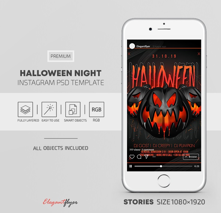 20+ Free Awesome Customizable Halloween Instagram Story Templates in PSD + Premium Version!