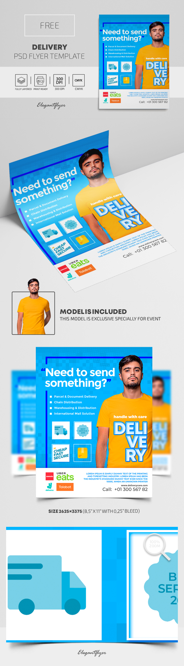 Delivery – Free PSD Flyer Template