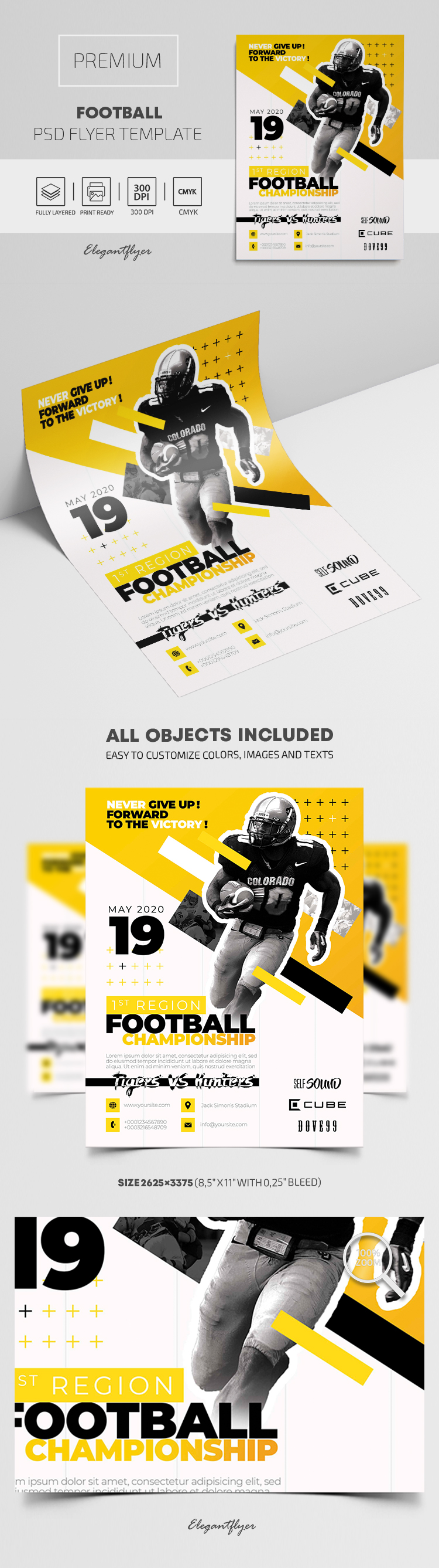 Football – Premium PSD Flyer Template