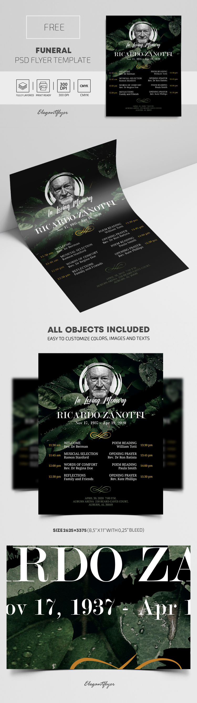Funeral – Free PSD Flyer Template