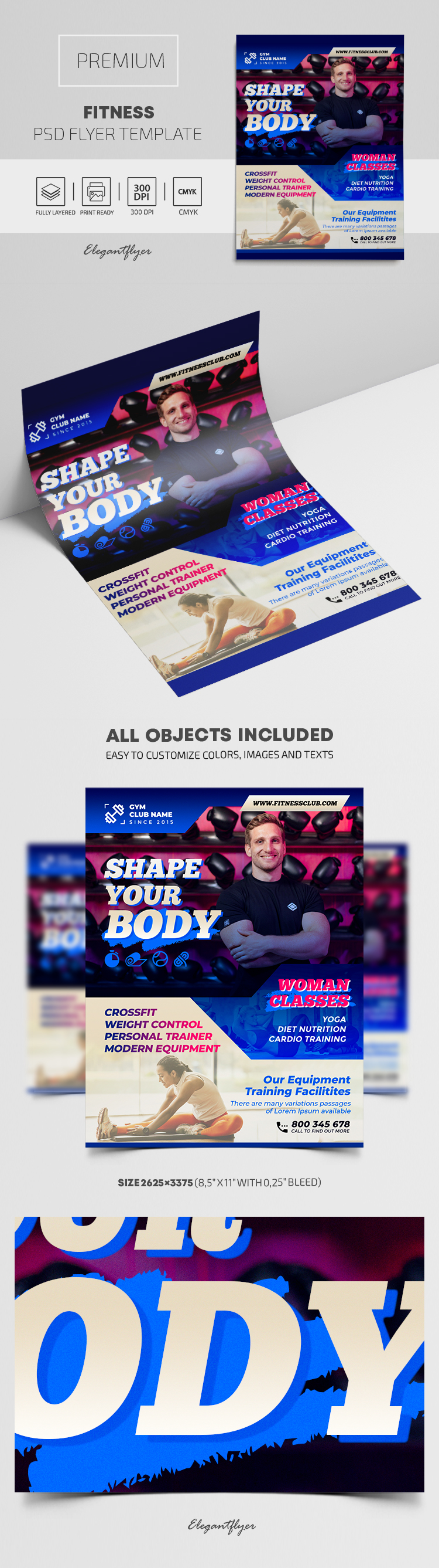 Fitness – Premium PSD Flyer Template