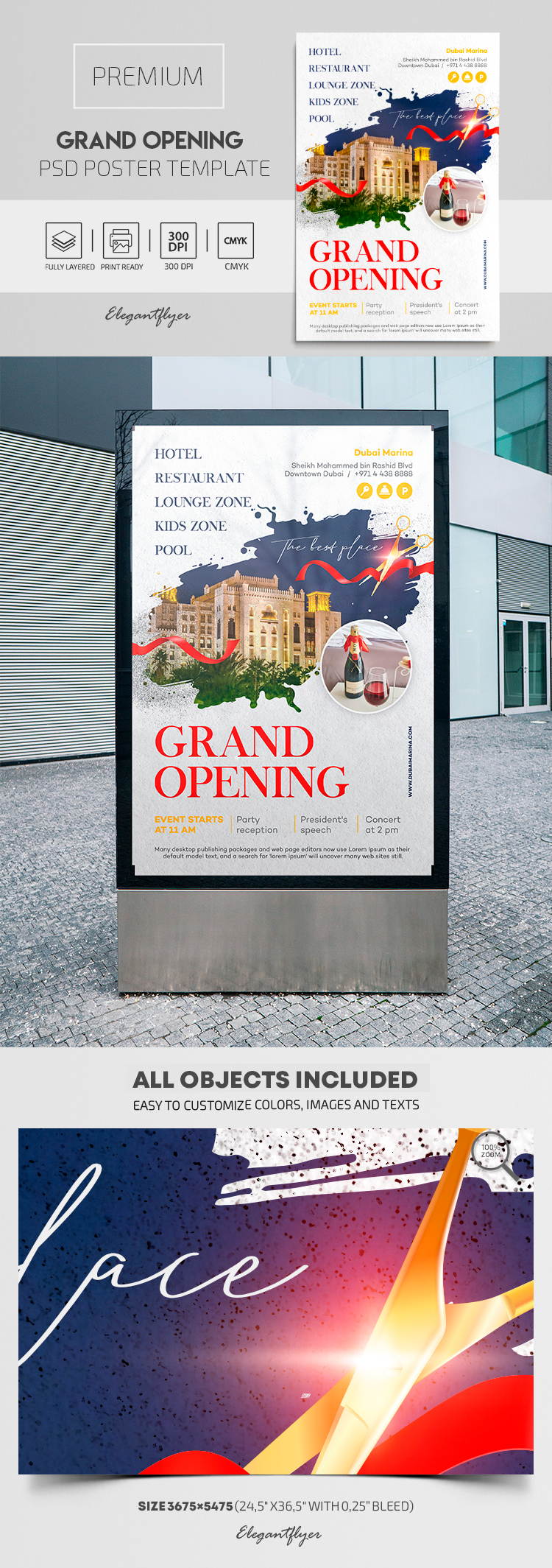 Grand Opening – Premium PSD Poster Template