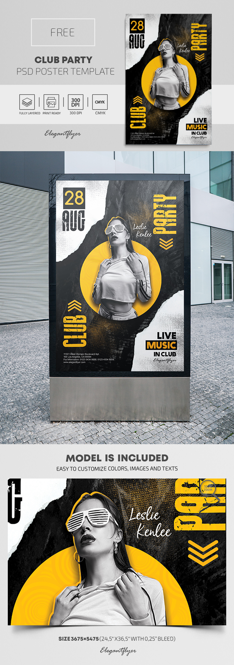 Club Party – Free PSD Poster Template