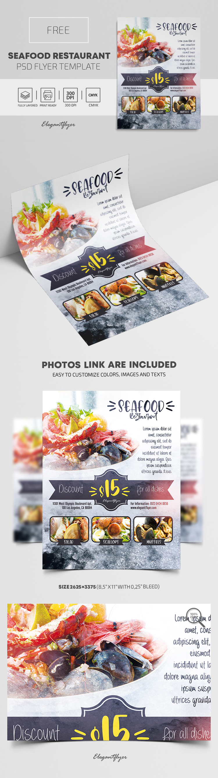 Seafood Restaurant – Free PSD Flyer Template