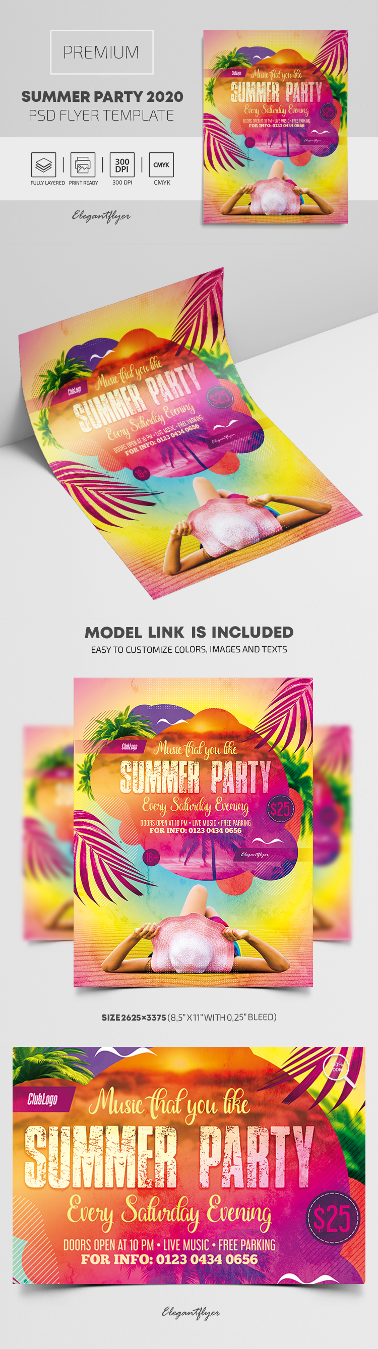 Summer Party 2020 – Premium PSD Flyer Template