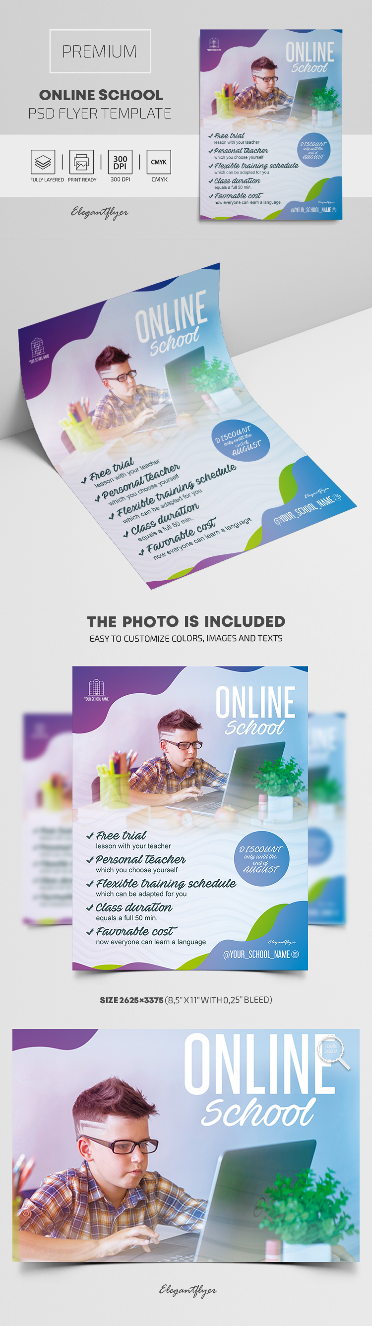 Online School – Premium PSD Flyer Template