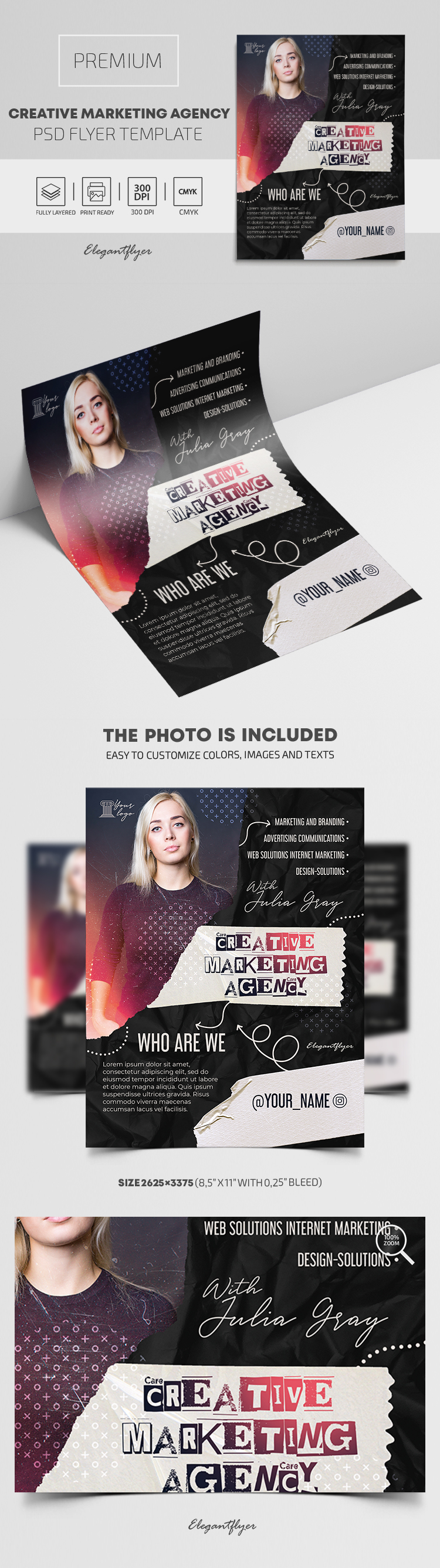 Creative Marketing Agency – Premium PSD Flyer Template