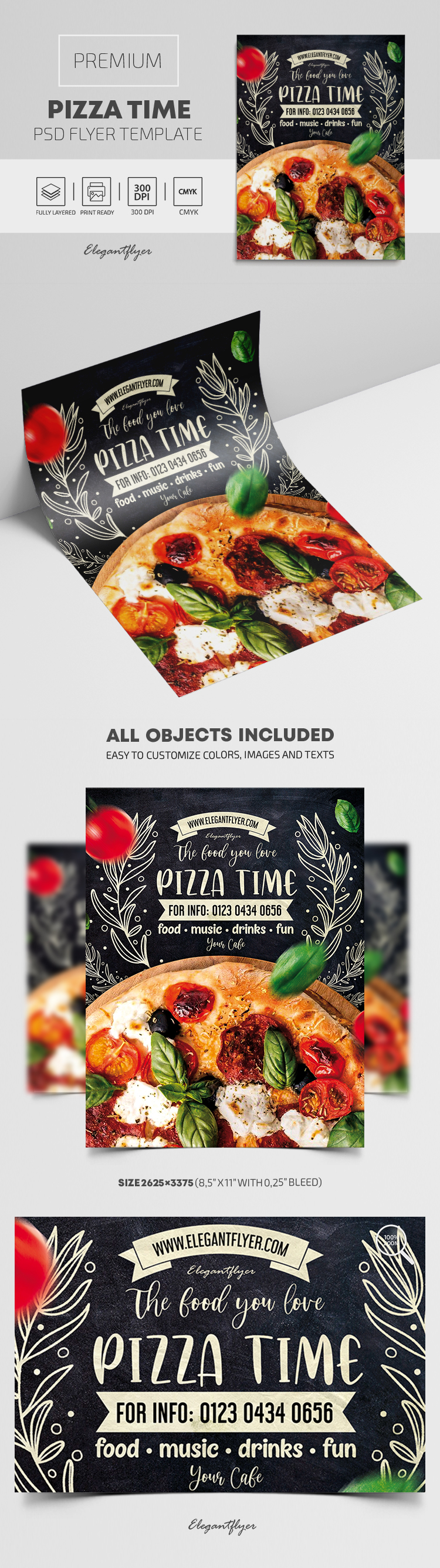Pizza Time – Premium PSD Flyer Template