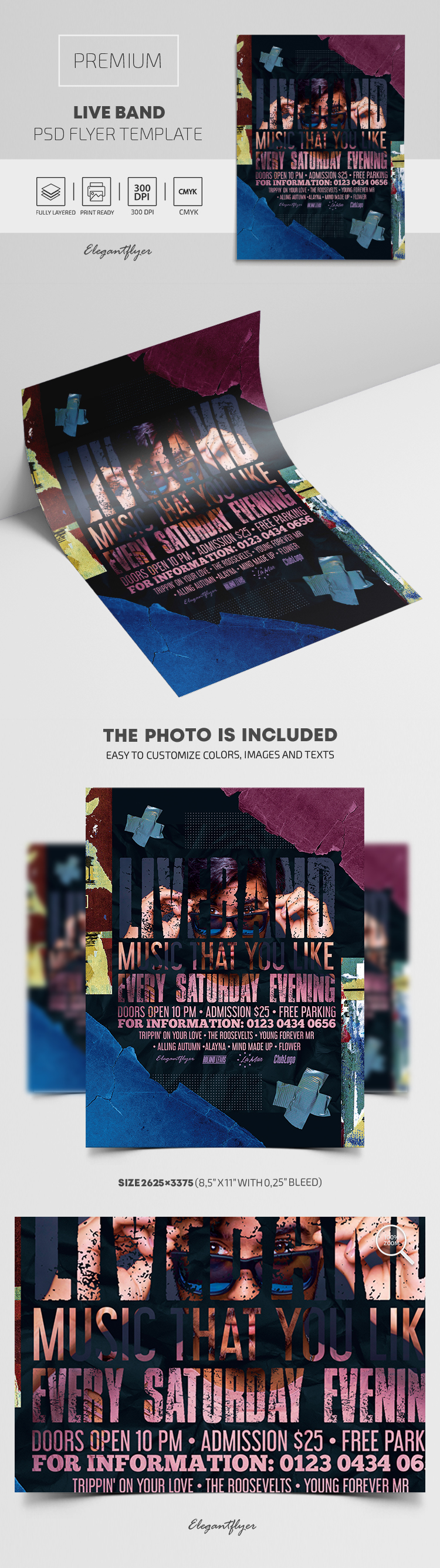 Live Band – Premium PSD Flyer Template