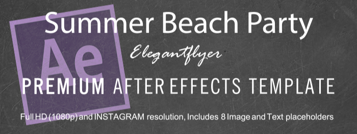 Summer Beach Party After Effects Template