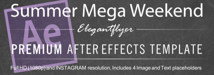 Summer Mega Weekend After Effects Template