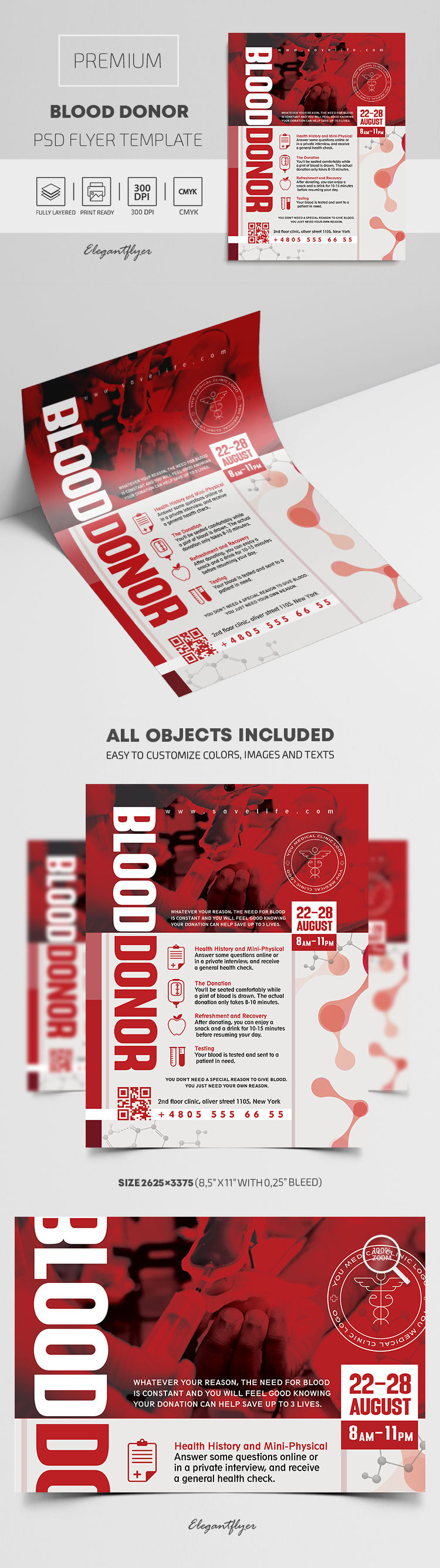 Blood Donor – Premium PSD Flyer Template