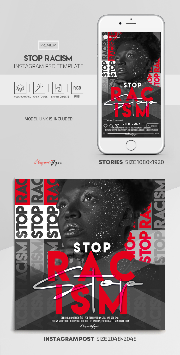 Stop Racism – Instagram Stories Template in PSD + Post Templates