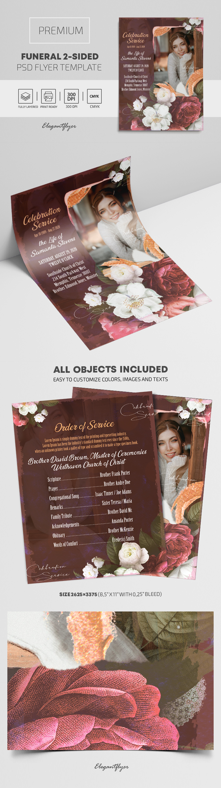 Funeral 2-Sided – Premium PSD Flyer Template