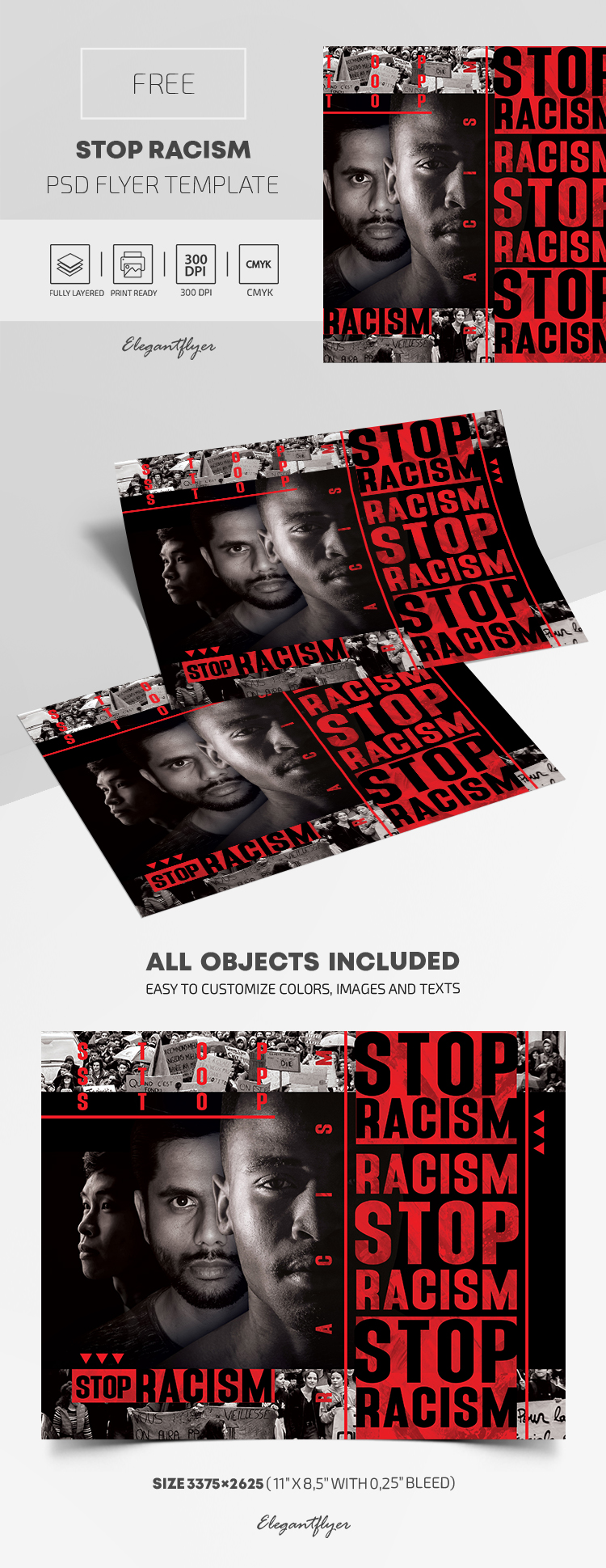 Stop Racism – Free PSD Flyer Template