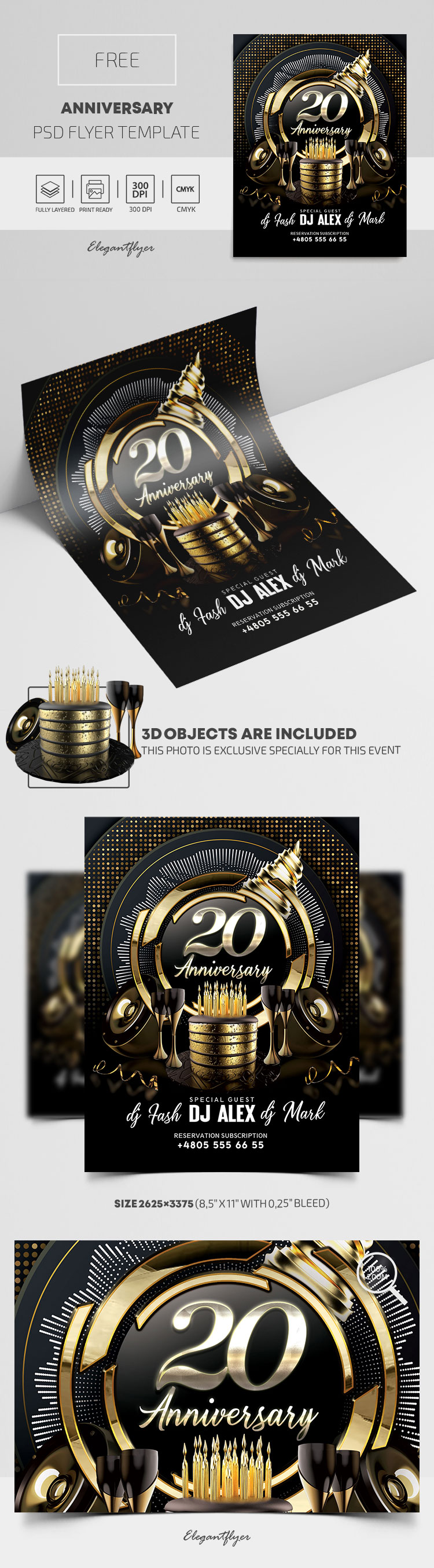 Anniversary – Free PSD Flyer Template