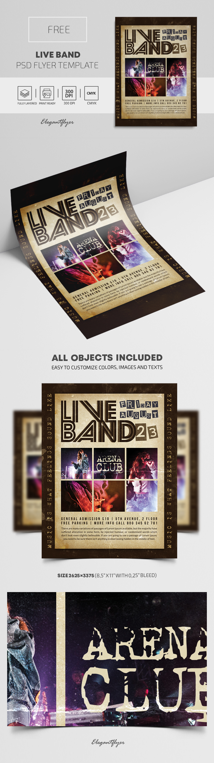 Live Band – Free PSD Flyer Template