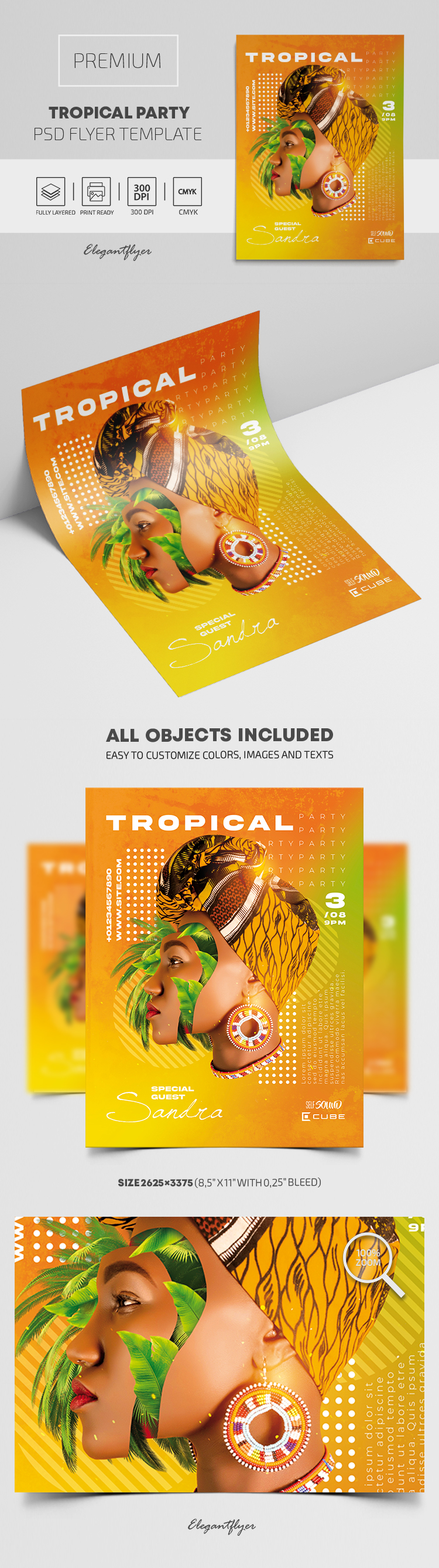 Tropical Party – Premium PSD Flyer Template