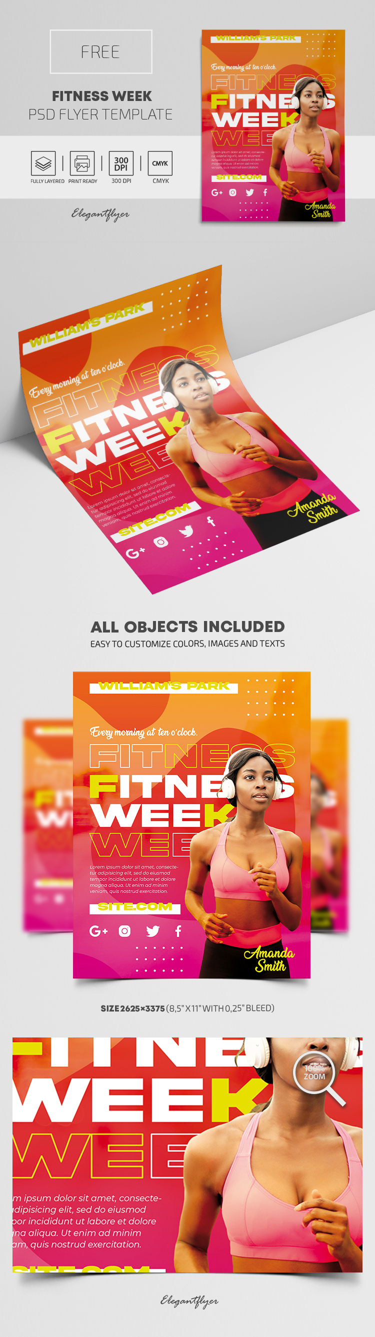Fitness Week – Free PSD Flyer Template