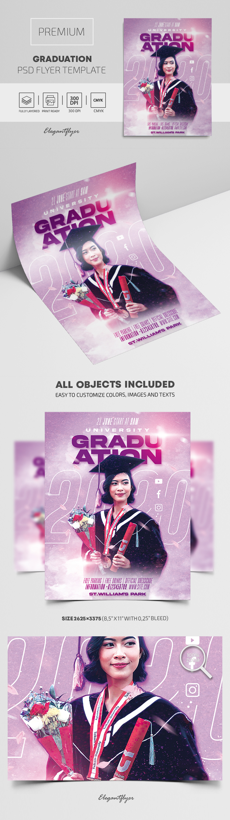 Graduation – Premium PSD Flyer Template