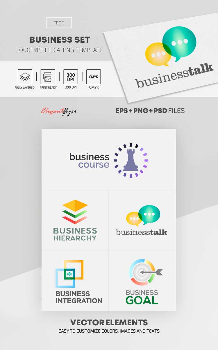 Business Set – Free EPS + PSD Logo Template