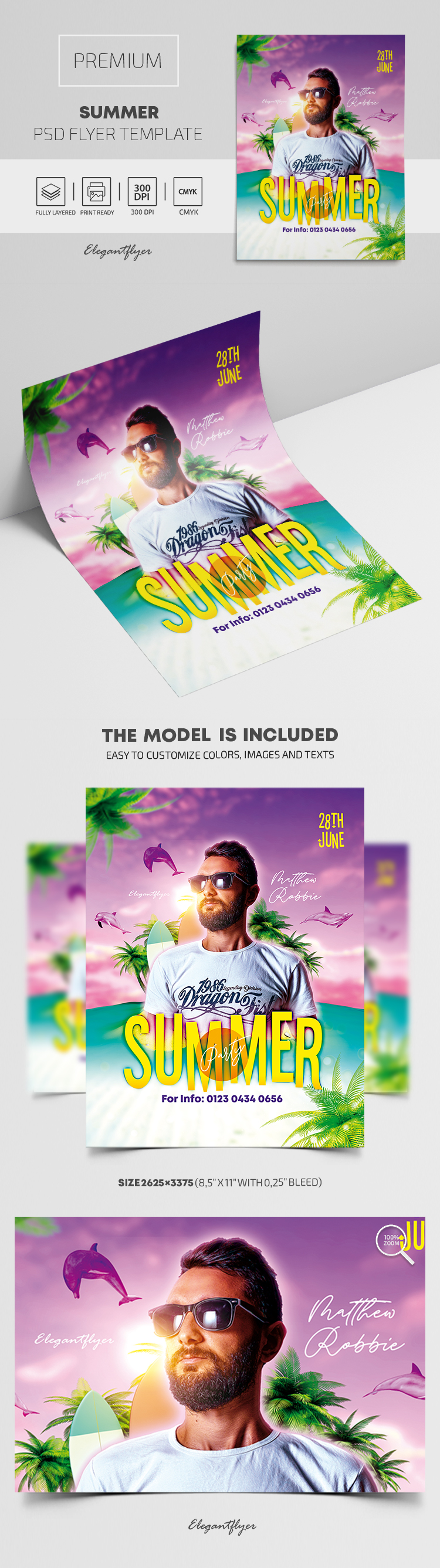 Summer – Premium PSD Flyer Template