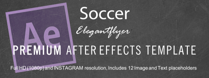 Soccer After Effects Template