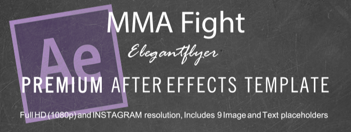 MMA Fight After Effects Template