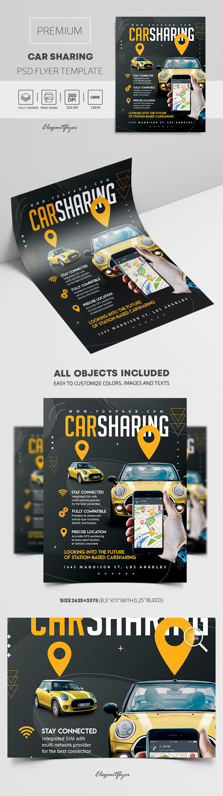 Car Sharing – Premium PSD Flyer Template