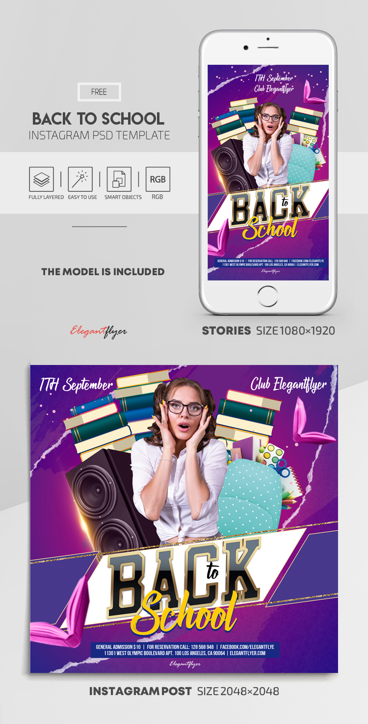 Back to School – Free Instagram Stories Template in PSD + Post Templates