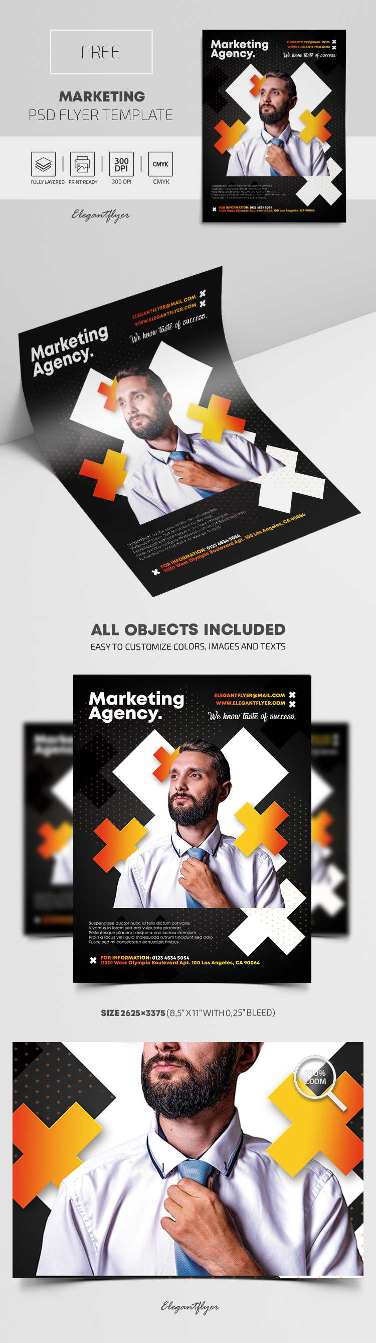 Marketing – Free PSD Flyer Template