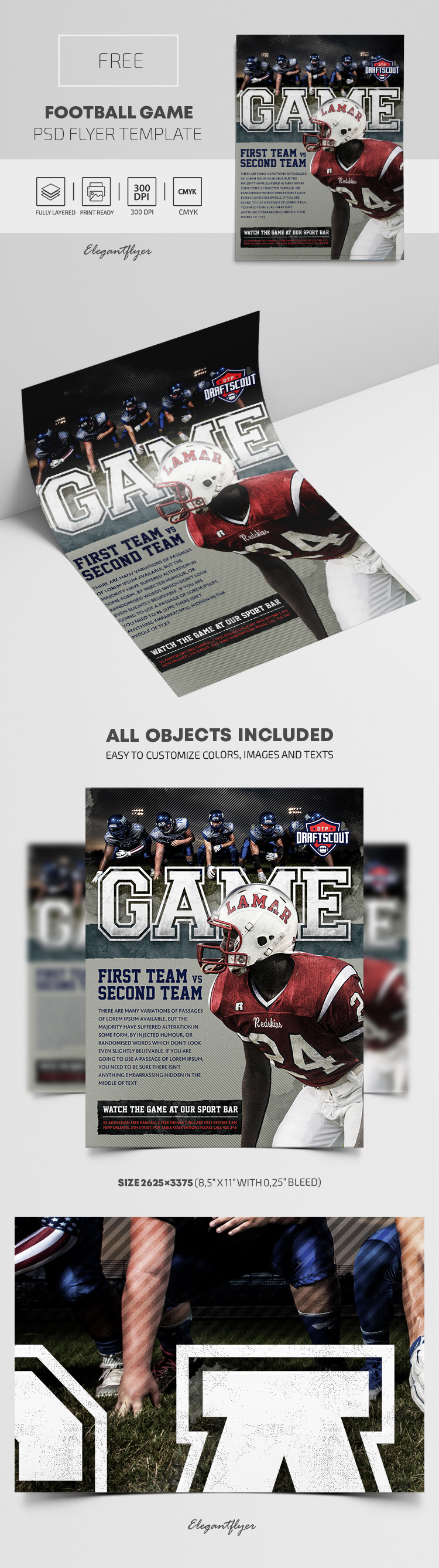 Football Game – Free PSD Flyer Template