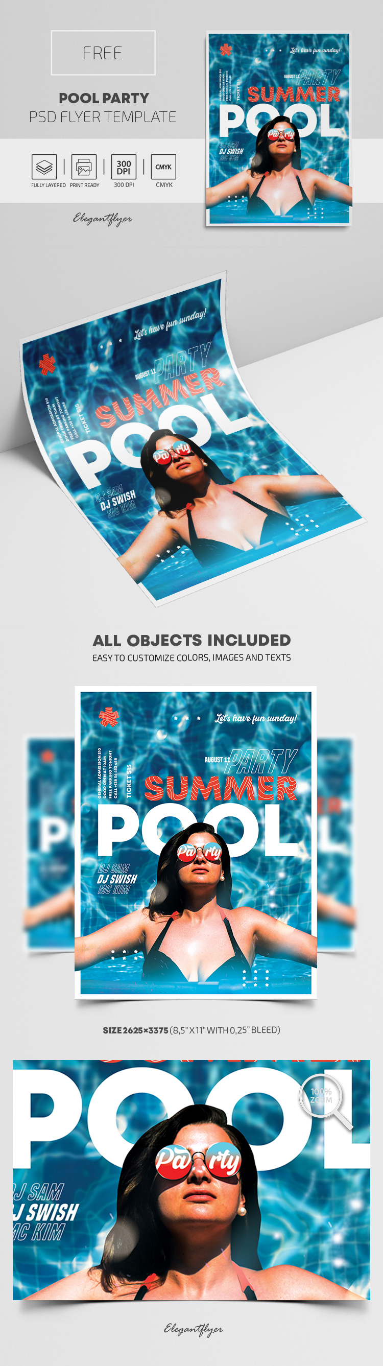 Pool Party – Free PSD Flyer Template