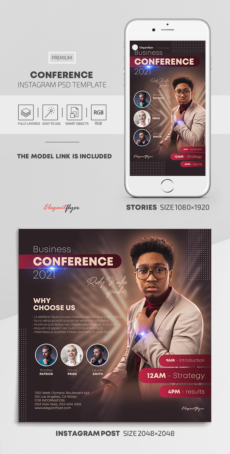 Conference – Instagram Stories Template in PSD + Post Templates
