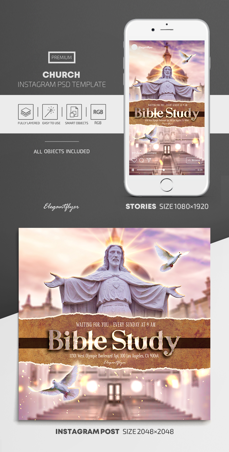 Church – Instagram Stories Template in PSD + Post Templates