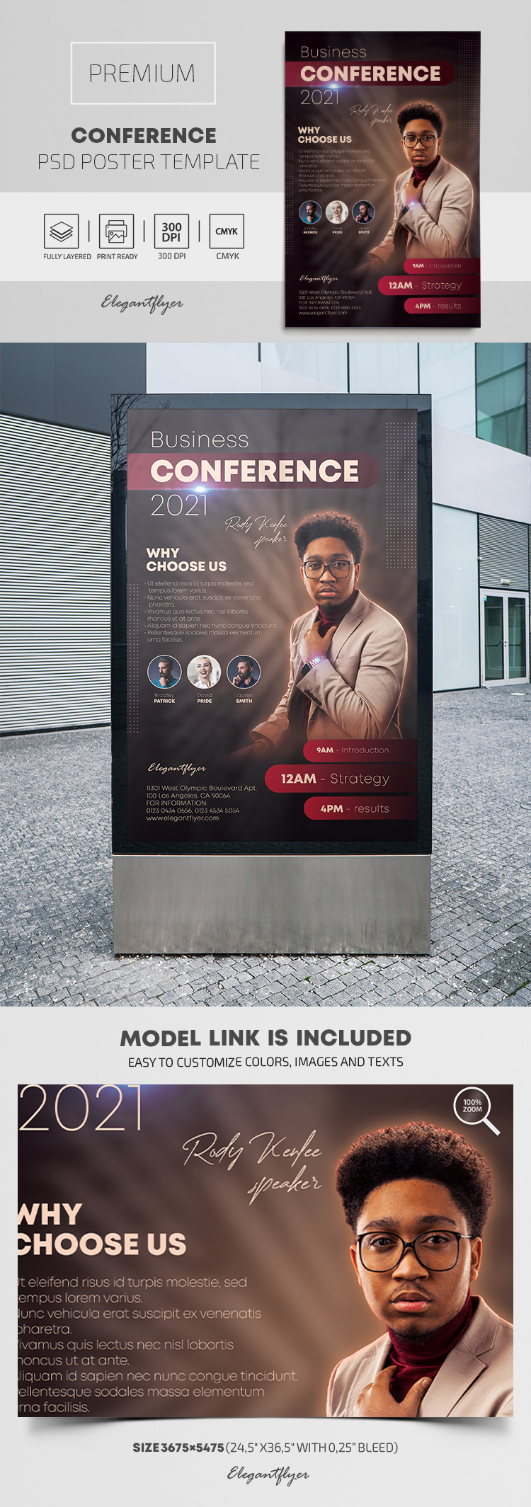 Conference – Premium PSD Poster Template